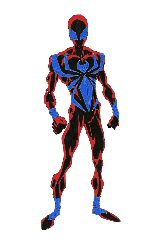 Spider-Man's new armor costume in his traditional colors